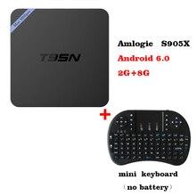 T95N Mini M8S Pro m8spro Android 6.0 TV Box S905X Quad Core Wifi 2G 8G Mémoire Smart Set top Box PK X96 Smart TV Box + Clavier