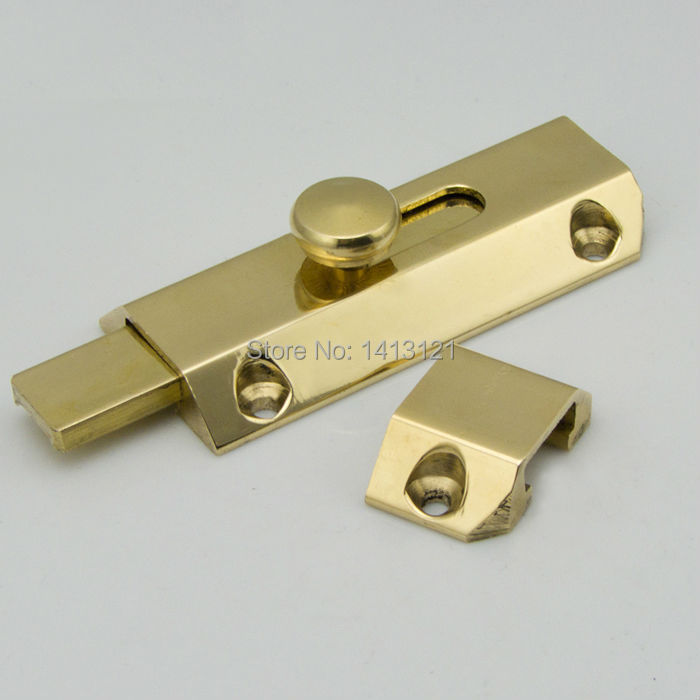 free shipping 3 inch Door Bolt wooden Hardware window Lock brass Bolt door latch furniture bolt DIY household handmade part стоимость