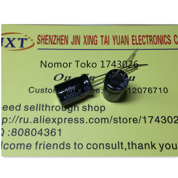 Pengiriman gratis 10 pcs lot 10v 1000uf 8 12 10 v 1000 uf 8mm 12mm High