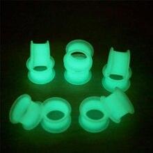 Tapones y túnel para los oídos que brillan en la oscuridad, expansión para oreja, piercing corporal, defensor de la oreja, 1 ud.