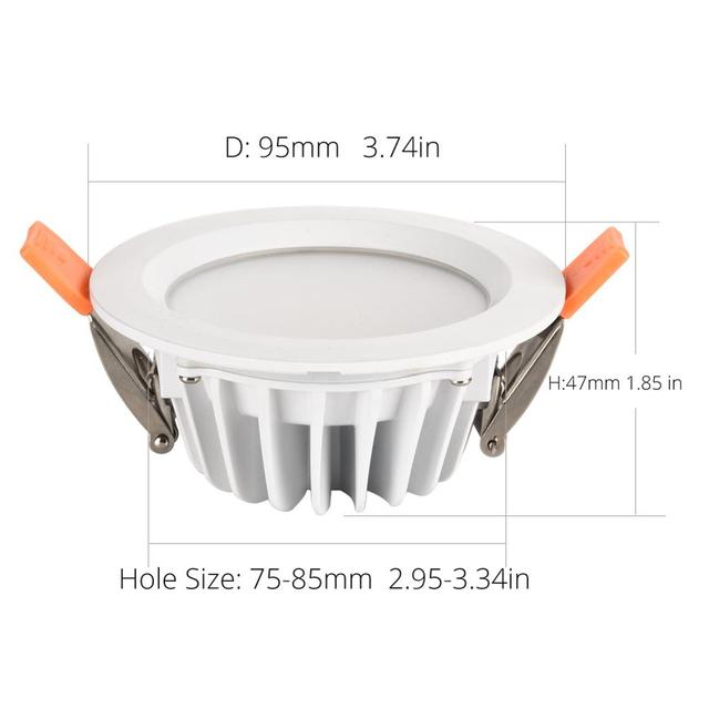 Quality Waterproof IP65 LED Downlight AC85-220V 7W 9W LED Lamp Recessed LED Spot Light For Bathroom kitchen