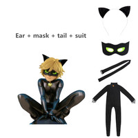 2018 Hot Selling Black Cat Noir Cosplay Costume Cat Noir Cosplay Dress
