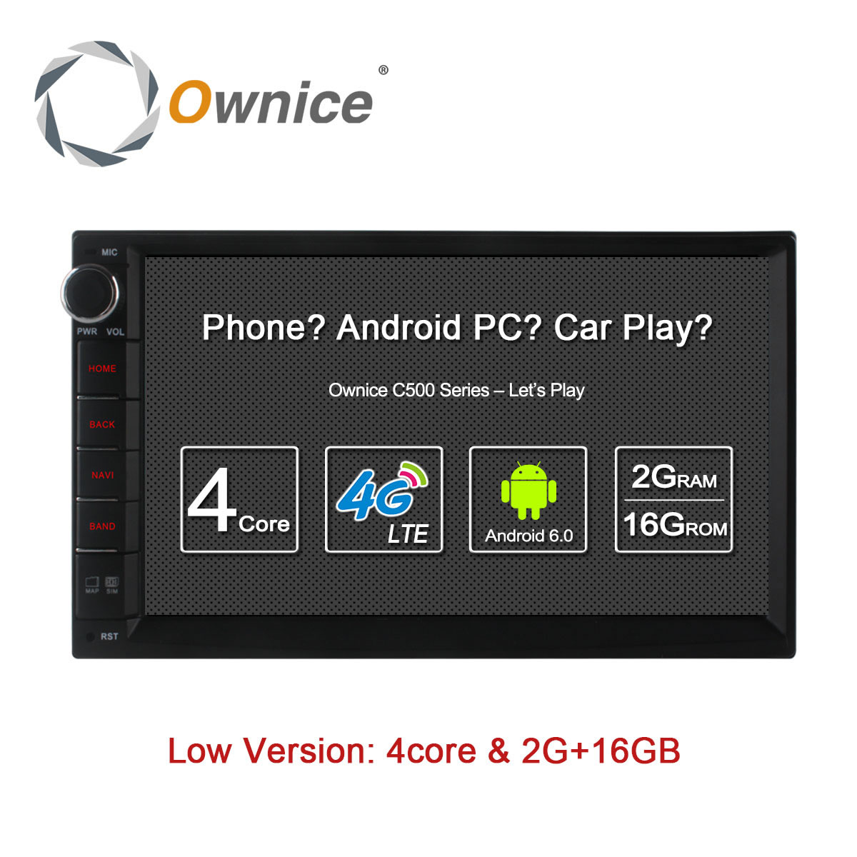 Ownice C500 Octa 8 Core Android 6 0 2G RAM 32GB ROM Support 4G LTE SIM ownice c500 octa 8 core android 6 0 2g ram 32gb rom support 4g lte  at gsmx.co