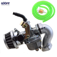 Goofit Green 19mm Racing Carburetor Air Filter Assembly Carb Intake Pipe Gasket Fuel Hose SUNL Line