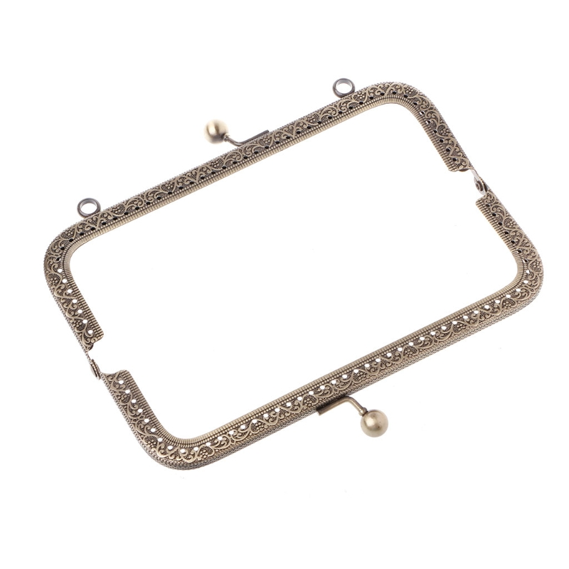 1Pc DIY Purse Handbag Handle Coins Bags Metal Kiss Clasp Lock Frame DIY 18cm