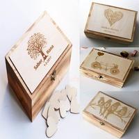 Alternative Wedding Guest Book, Custom Wedding Box, Personalized Wooden Keepsake Box, Memorable Anniversary Birthday gift,