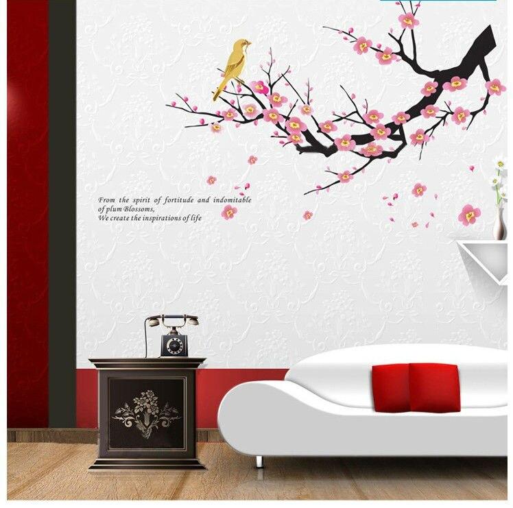 Family bathroom wall decor : Flowers retro home decoration wall stickers family