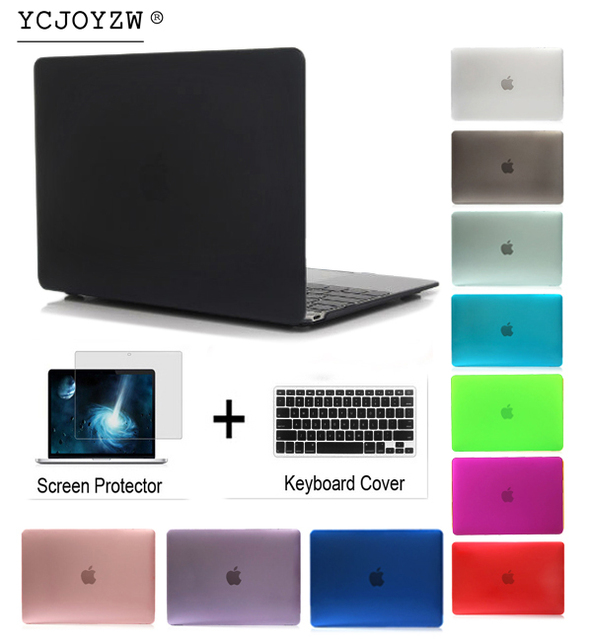 YCJOYZW - Laptop Case For Apple MacBook Air Pro Retina 11 12 13 15 for mac book New Pro 13 15 Air 13 inch with Touch Bar cover