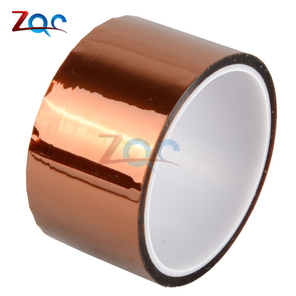 50mm 5cm x 30M High Temperature Resistant Heat Adhesive Tape Roll 100ft Polyimide Insulation Thermal Tape One side Self-adhesive