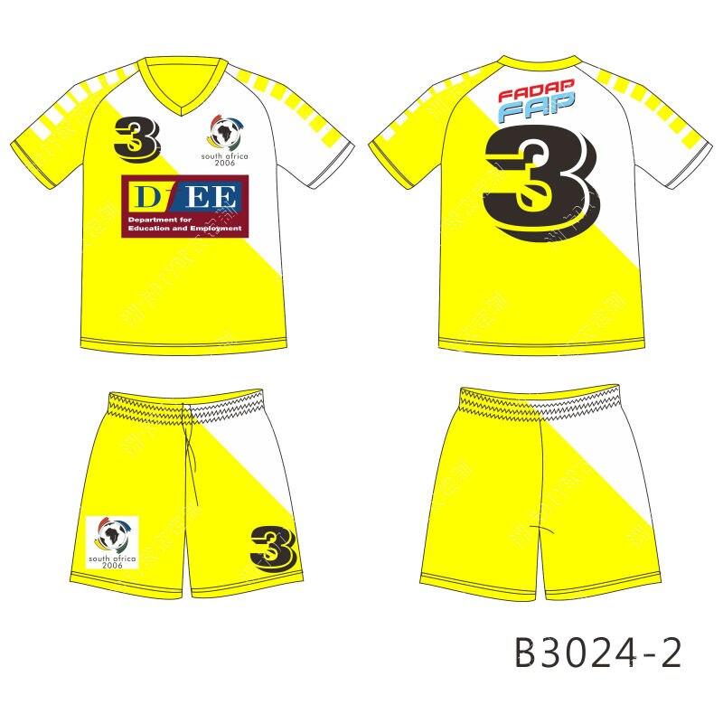 2016 Nova manga Curta Com Decote Em V Camisas De Futebol Personalizado todo  o logotipo ea Cor 100% poliéster adfe6085f4934