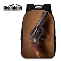 4b99ba935021a Dispalang Unisex Laptop Backpack For Women Men Pistol Print Student School  Bag For Teenager Military Backpacks