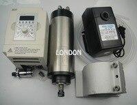 CNC Комплект шпинделя ER11 диаметр 80 мм 220 В 1.5KW водяного охлаждения spindlemotor + 1 шт. водяной насос + вода труба + 1 piece1.5kw беспозвоночных
