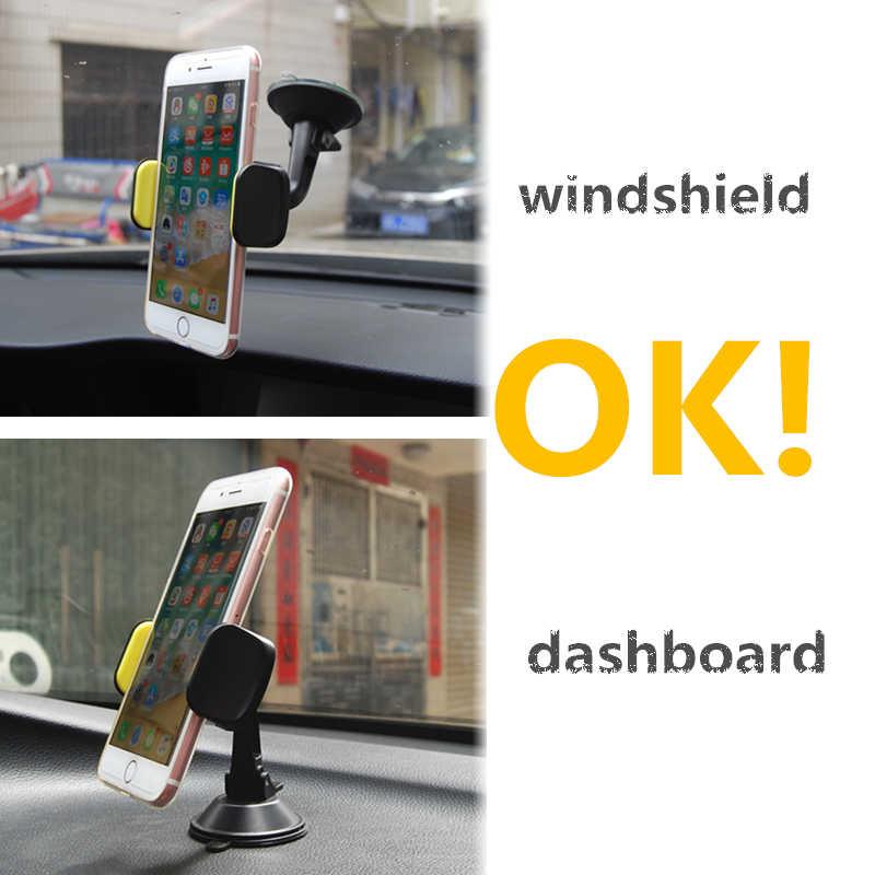 HOTR 360 obrotowy deska rozdzielcza samochodu uchwyt na telefon szyby stojak wspornik obsady uchwyt samochodowy wysuwane zacisk mocujący wyświetlacz GPS