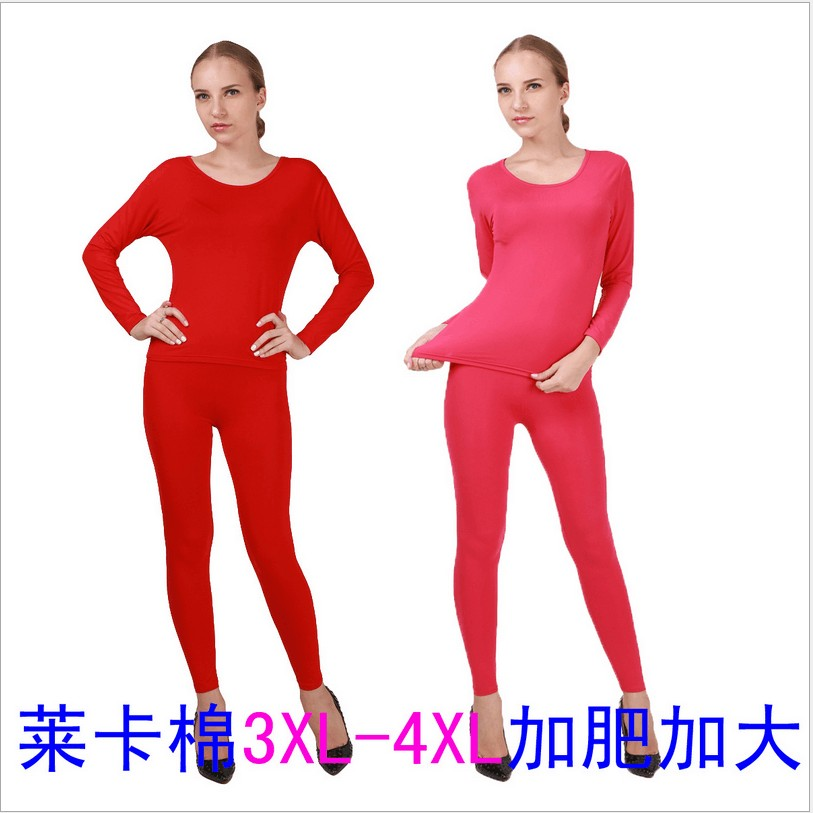 New Arrival Hihg Qualtiyu Autumn Winter Elastic Cotton Lycra Long Johns Super Large Comfortable Women Underwear Plus Size XL-4XL