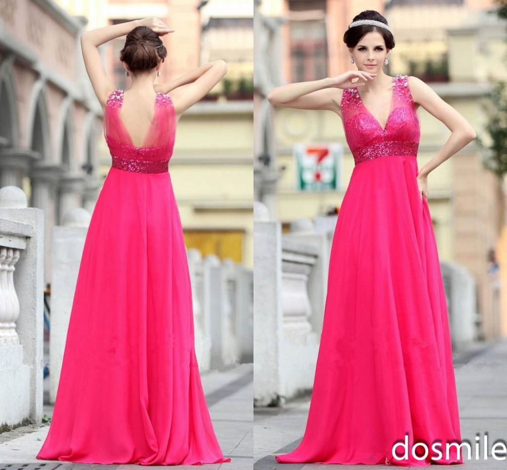 Wedding Fuschia Bridesmaid Dresses popular fuschia bridesmaid dress buy cheap 2016 charming sheer chiffon dresses sexy wedding party gowns with sequins beaded crystals