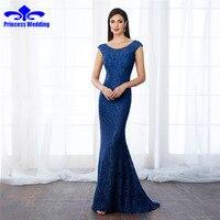 Elegant Mermaid Evening Dress Ever Pretty New Arrival 2017 Women Elegant Scalloped Neck Plus Size Long