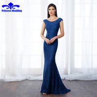 Elegant Mermaid Evening Dress Ever Pretty New Arrival 2017 Women Elegant Scalloped Neck Plus Size Long