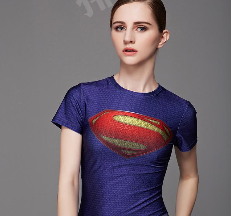 Halloween costume superman femmes t shirts vert lanterne spiderman captain america t shirt pour - Captain america fille ...