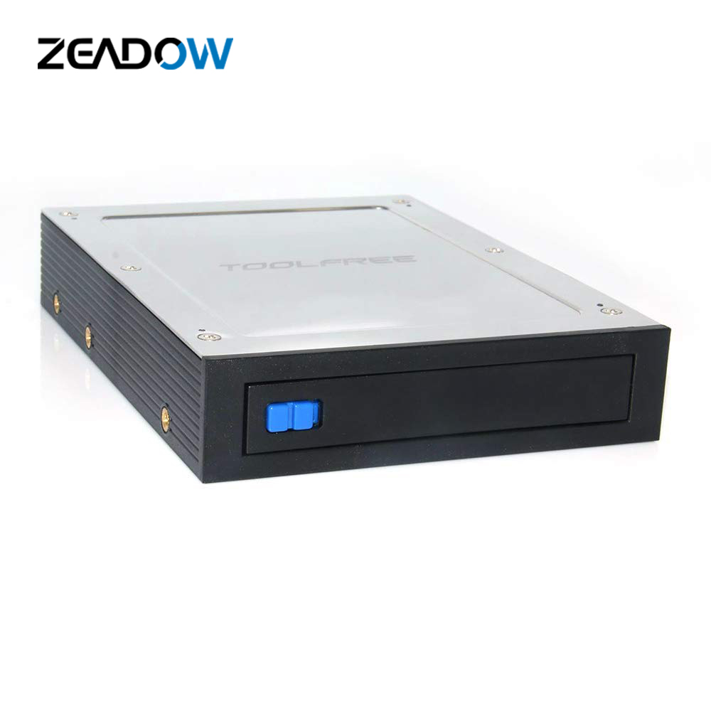2.5 Inch To 3.5 Inch Internal Floppy Bay SATA III 6Gbps Tray-LESS Mobile Rack For 2.5