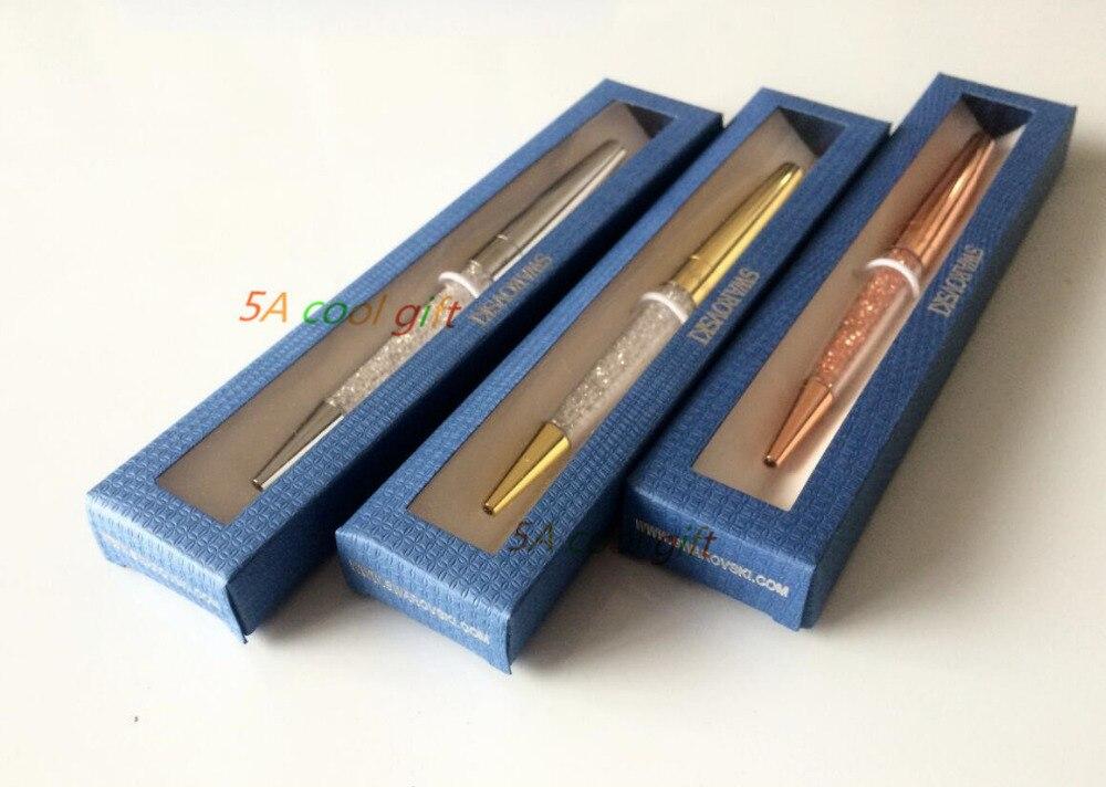 Stardust кристаллический новый подарок Swarovski pen Кристалл шариковая ручка с логотип подарок box дело swarovski elements кристалл ручка