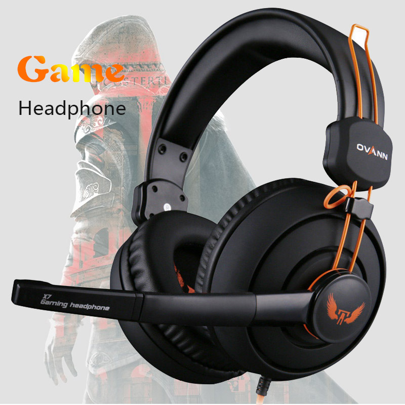 Computer Earphones Headband Headphones Ovann  X7 Stereo Surround Game Headphone Gaming Headset 3.5mm with Mic Volume Control Наушники