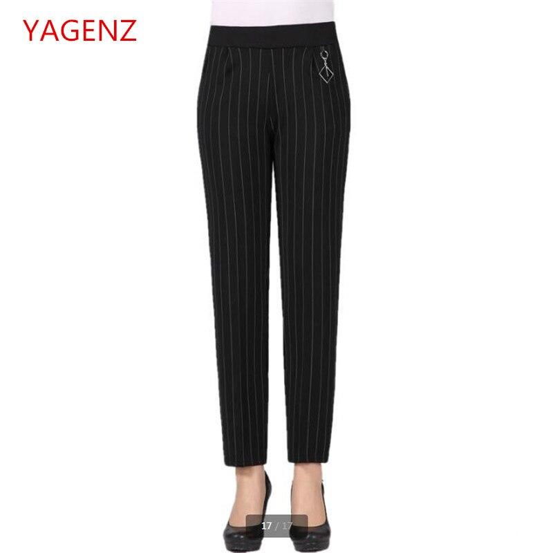 Women trouser plus size summer Women's trousers Tall waist Women short pant Springautumn High quality trousers stripe BN3513
