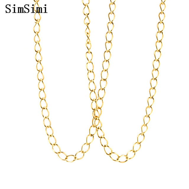 Link Chain Necklace Stainless Steel Twist Rolo 2.5mm Width 0.5mm Wire  Necklace for Men Women Wholesale 5meter