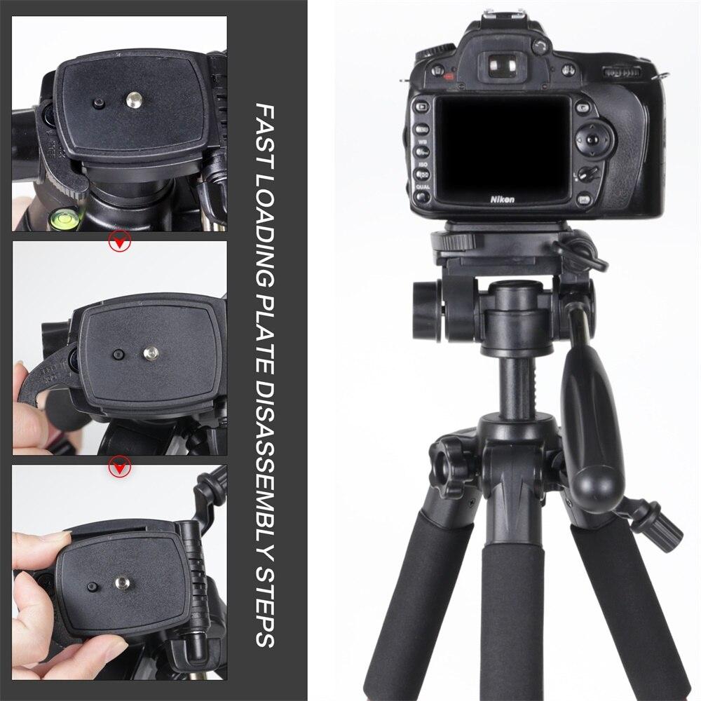ZOMEI Q111 Camera Tripod Pan Head Professional Portable Travel Aluminum Tripode-8