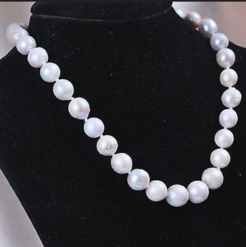 """7-8mm Genuine Natural South Classic Baroque White Akoya Pearl Necklace 18"""""""