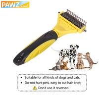 PAWZ Road Bàn Chải Chó Lược Chải Chuyên Nghiệp hai mặt Mở Nút Thắt Cào Thép Không Gỉ Dog Cat Trimmer Tóc Pet Grooming Tool Sản Phẩm