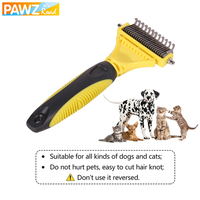 PAWZ Road Dog Brush Comb Professional Double Sided Open Knot Rake Stainless Steel Dog Cat Hair