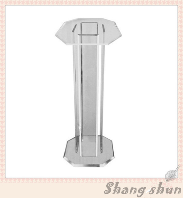 Crystal Plexiglass Clear Acrylic Church Pulpit Organic Glass Lectern Podium