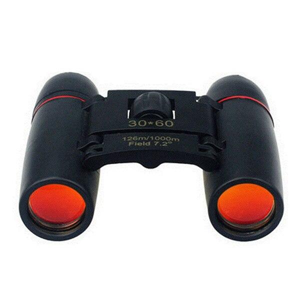 Day Night Vision Binoculars 30x60 Zoom Outdoor Travel Folding Telescope Black