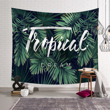 Green Plant Cactus Watercolor Hanging Wall Tapestries Mandala Bohemian Tapestry Landscape Wallpaper Art Shawl Throw