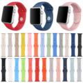DAHASE 25 Colors Silicone Band For Apple Watch Series 2 Rubber Strap for iWatch 1st 2nd 42mm 38mm Sports Watchband w Connector