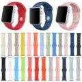 Dahase 25 colores banda de silicona para apple watch series 2 de goma correa para iWatch primero segundo 42mm 38mm Correa Deportes w Conector