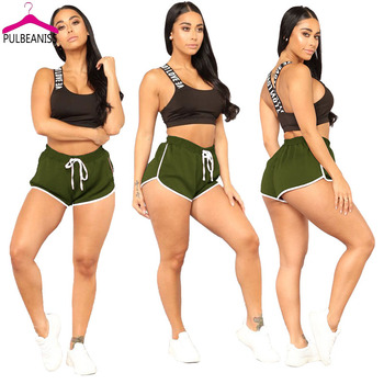 PULBEANISS 2018 New Fashion Summer Women Hot Pant Sexy Ladies Night Club Party Shorts Slim Sash Pants Femme Slim Out 5 Color artificial nails