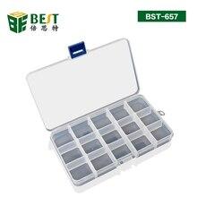 15 решетки прозрачная пластиковая емкость для хранения коробка BST-657
