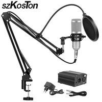 Bm 800 Condenser Microphone for Computer karaoke Microphone Studio Microphones Mikrofon with Microphone Holder Phantom Power