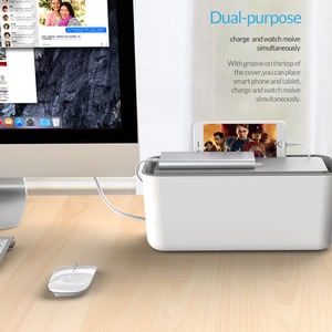 Image 5 - ORICO Storage Box Protect Box Power Strip Box for Adapter Wire/Charger Line/USB Network HUB Cable Management Box