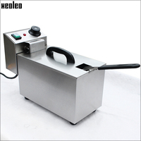 Xeoleo Commercial Electric Fryer 4L Home Use Stainless Steel Electric Deep Fryer French Fries Machine 220V