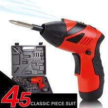 ФОТО 45 in 1 lithium electric screwdrivers multifunctional screwdrivers mini home sets screws 3.6v electric screwdrivers