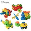 Bebê brinquedo plástico do carro montagem desmontagem tartaruga classic cars car toys para crianças diy blocos de construção de elefante caçoa o presente de natal