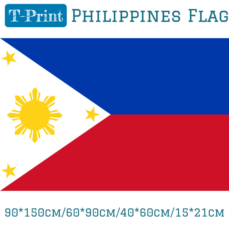 Free shipping 90*150cm/60*90cm/40*60cm/15*21cm Philippines Philippino National Flag 3*5ft