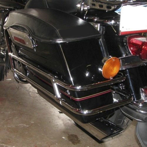 Chrome Saddlebag Guard Rail For Harley Touring FLHT FLHR FLHTCUSE/2/3 1997-2008 Road King Electra Street Glide CVO Ultra Classic