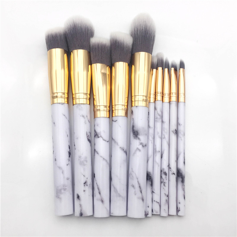 10pcs professional makeup brushes set marble handle foundation kabuki powder blush eyebrow eyeshadow brush beauty cosmetic tool mager ssr 120a dc ac single solid state relay quality goods mgr 1 d48120 dc control ac