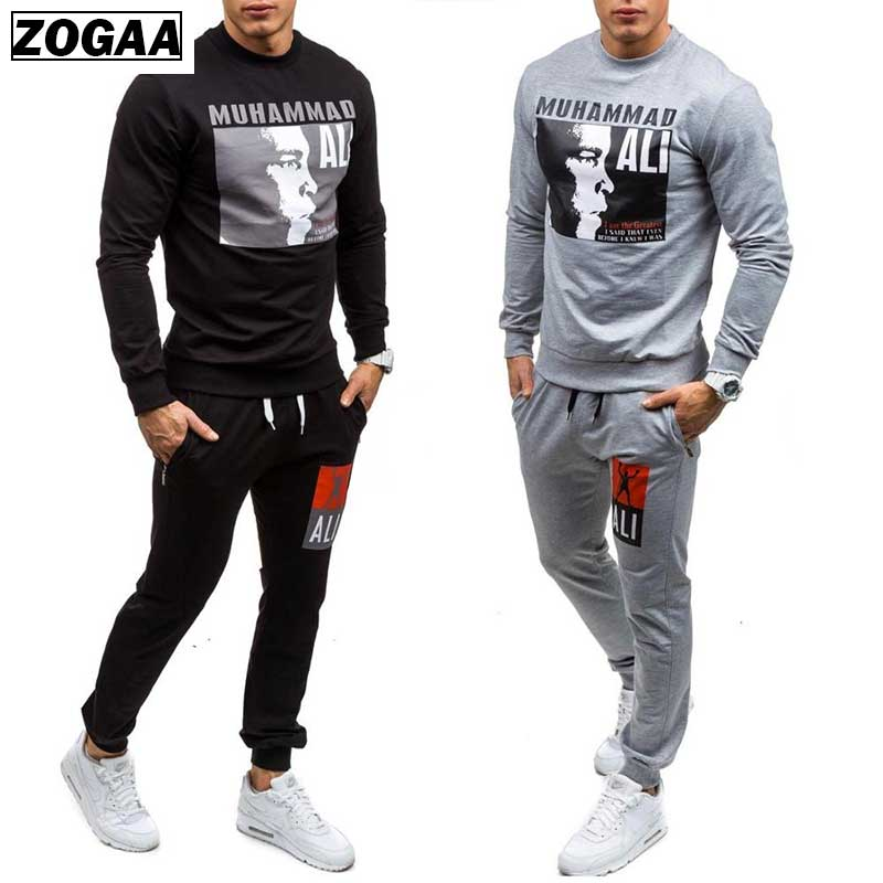 ZOGAA Men's Casual Tracksuit Hot Fashion Men's Sports Sweatsuits Two Piece Set Sweat Suit Sport Wear