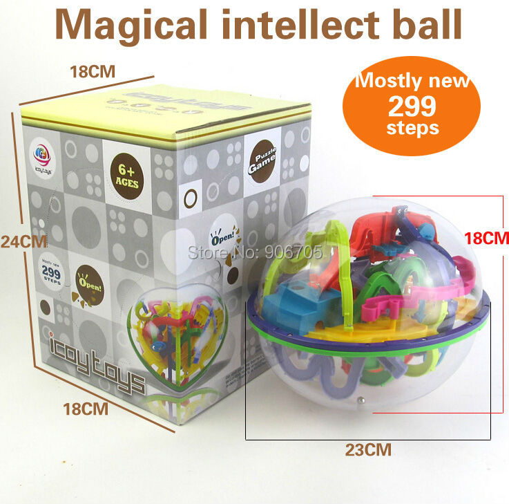 299 Steps 3D Magic Maze Ball perplexus magical intellect ball educational toys Marble Puzzle Game perplexus balls IQ Balance toy 3d magic maze ball 100 levels intellect ball rolling ball puzzle game brain teaser children learning educational toys or