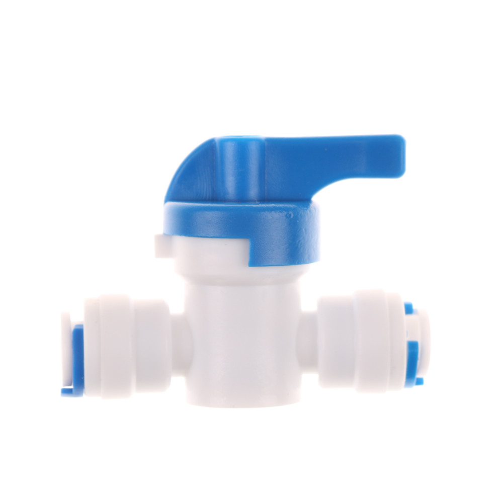 1PCS 1/4'' Inline New Ball Valve High Quality Shut Off RO Water Reverse Osmosis Quick Connect