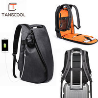 Tangcool Fashion Men Backpack for Laptop 17.3USB Port Waterproof Travel Backpack Large Capacity College Student School Backpack